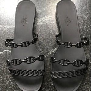 Authentic Hermès Rivage Sandals, size 9